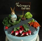 Beatrix Potter cake, garden cake, vegetable cake
