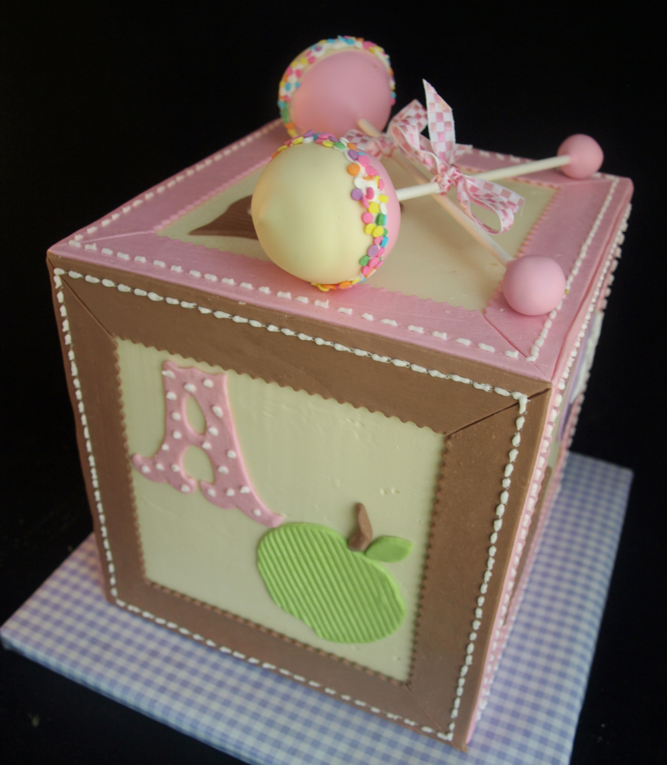 Baby Block Cake Images : Baby Shower Cakes - Laurie Clarke Cakes, Portland Oregon