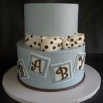 Baby Blocks Baby Shower Cake Portland Oregon