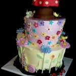 Enchanted Garden Cake Whimsical Bug Cake Portland Oregon