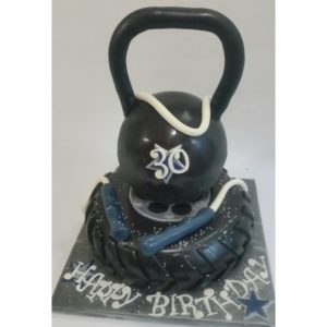 Cross Fit Birthday Cake