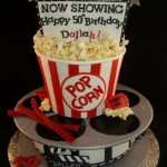 Movie Birthday Cake Portland OR popcorn, movie reel