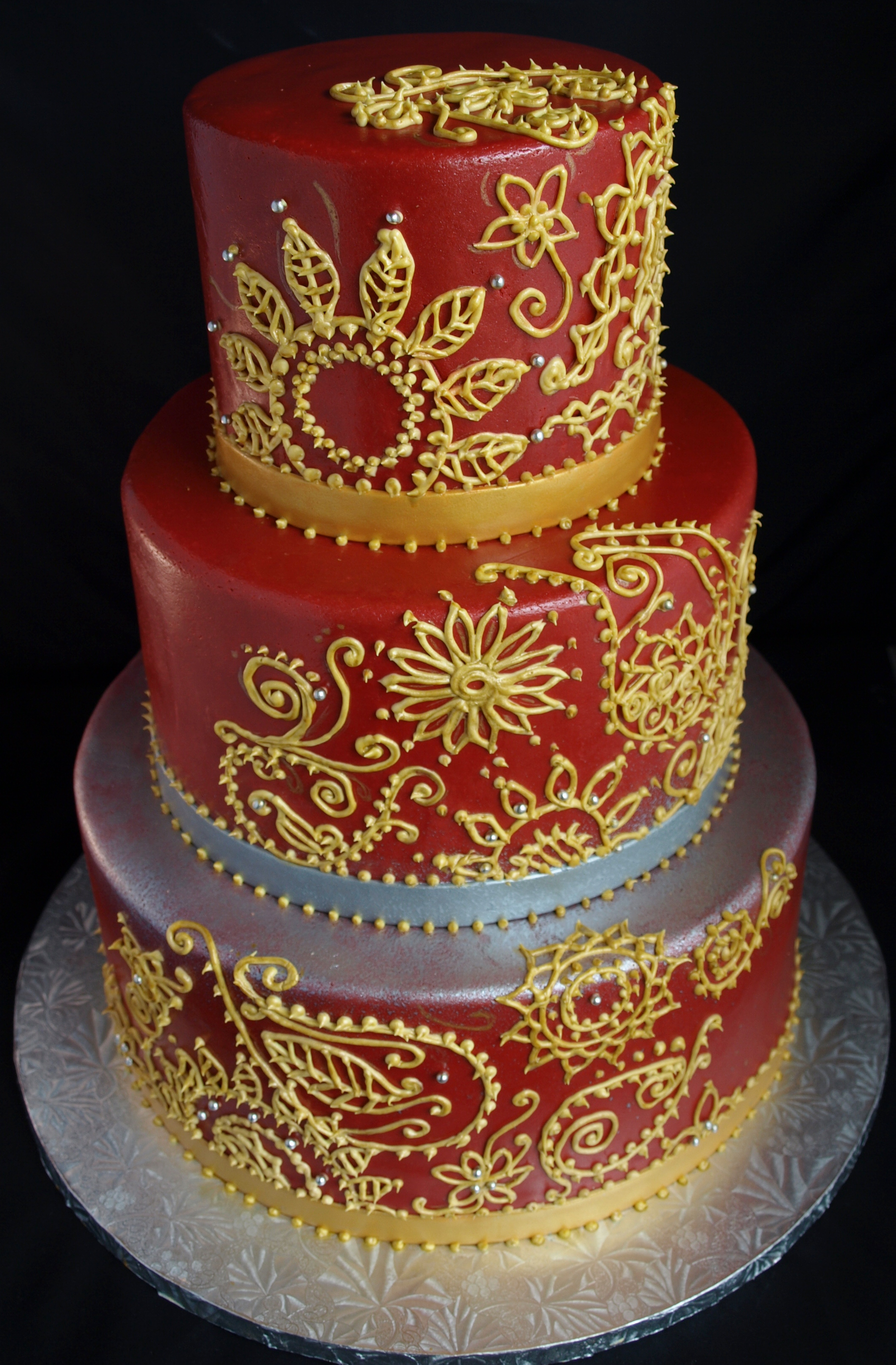Gallery For Red And Gold Wedding Cupcakes