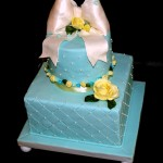 Tiffany Blue Bridal Shower or Birthday Cake, Portland Oregon
