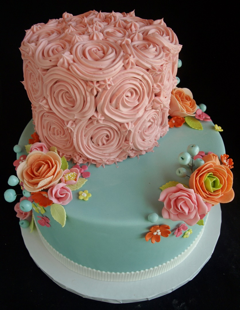 Wedding Cakes Portland Or Flower Cake Sugar Flowers Gumpaste