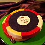 Poker Chips Groom's Cake