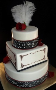 Art Deco Wedding Cake Portland OR