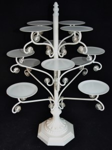 White Metal cupcake tower, Elegant Cupcake display