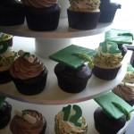 Graduation Cupcakes Green Yellow Gold Mortarboard Diploma