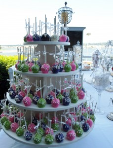 Wedding Monogram Cake Pop Tower